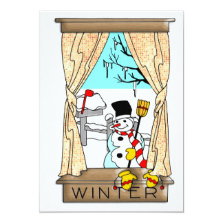 View from the Kitchen Window in Winter Card