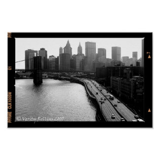 View From The Manhattan Bridge Poster