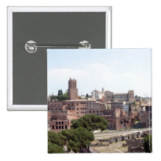View from the monumat 'Rome, Foro di Traiano'. Pinback Buttons