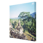 View from the monument showing balustrade stretched canvas print