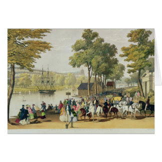 View from the North Bank of the Serpentine, 1851 Card