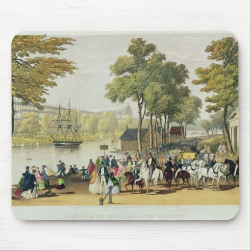 View from the North Bank of the Serpentine, 1851 Mouse Pad