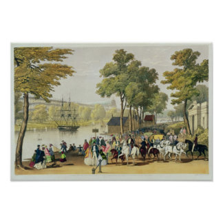 View from the North Bank of the Serpentine, 1851 Poster