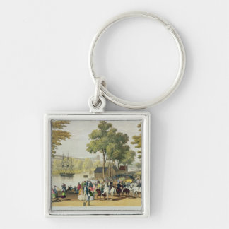 View from the North Bank of the Serpentine, 1851 Silver-Colored Square Keychain