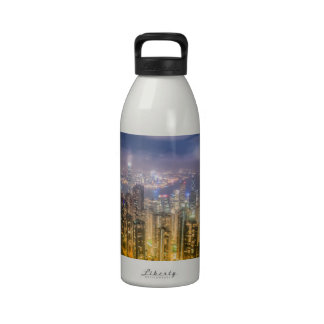 View from The Peak, Hong Kong Water Bottle