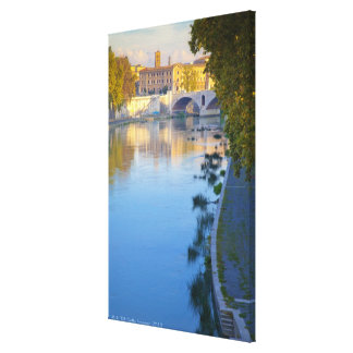 View from the Ponte Sisto Bridge of the Tiber Canvas Print