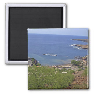 View from the road on Cidade Velha, Santiago 2 Inch Square Magnet