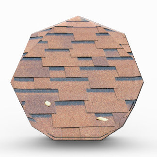 View from the roof shingles closeup brown acrylic award