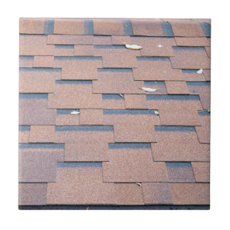 View from the roof shingles closeup brown ceramic tile