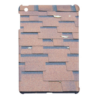 View from the roof shingles closeup brown iPad mini covers