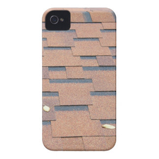 View from the roof shingles closeup brown iPhone 4 Case-Mate case