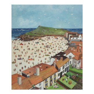View from the Tate Gallery St. Ives Poster