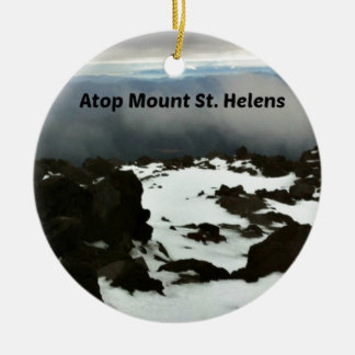 View from the top of Mt. St. Helens Ceramic Ornament