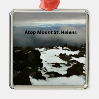 View from the top of Mt. St. Helens Metal Ornament