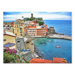 View from the trail- Vernazza Italy Art Photo