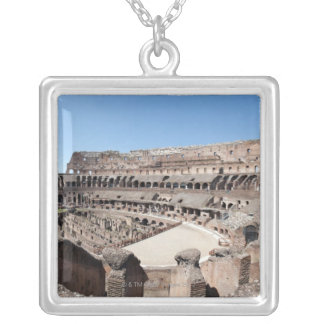 View from the upper gallery. silver plated necklace