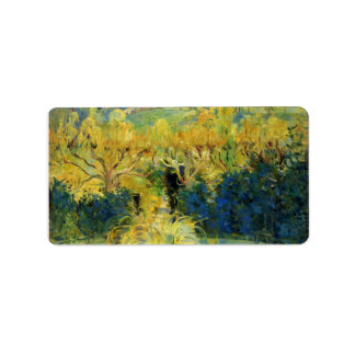 View from the veranda in Mezy by Berthe Morisot Custom Address Labels