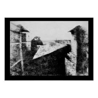 View from the Window at Le Gras, first photograph Poster