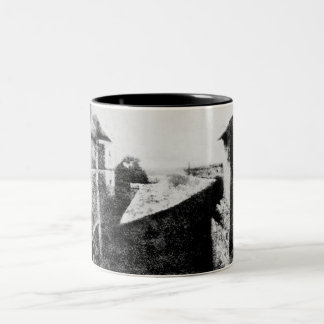 View from the Window at Le Gras, first photograph Two-Tone Coffee Mug