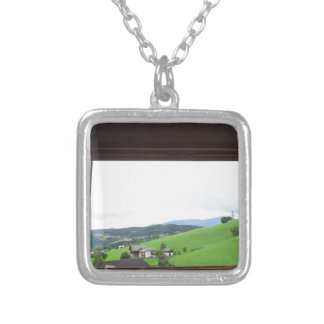 View from the window silver plated necklace