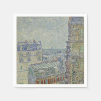 View from Theo's Apartment by Vincent Van Gogh Paper Napkin