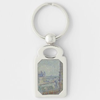 View from Theo's Apartment by Vincent Van Gogh Key Chain