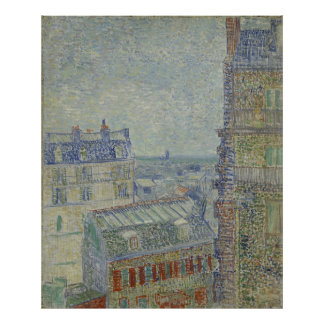 View from Theo's Apartment by Vincent Van Gogh Poster