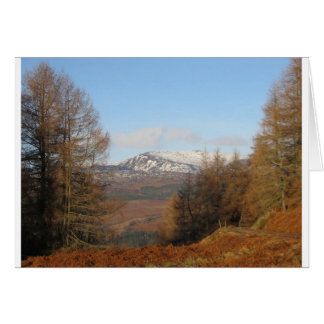 View from Torlum Hill,Perthshire, Patsy Goodsir Greeting Card