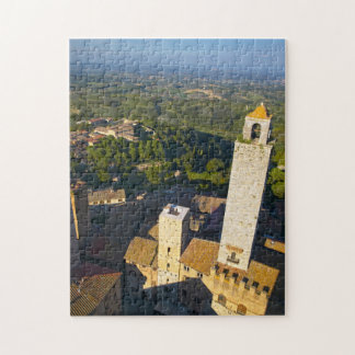 View From Tower, San Gimignano, Siena, Tuscany Jigsaw Puzzle