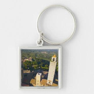View From Tower, San Gimignano, Siena, Tuscany Keychain