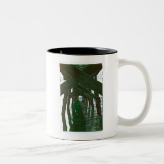 View From Under The Pier Two-Tone Coffee Mug