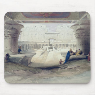 View from under the Portico of Temple of Edfou, Up Mouse Pad