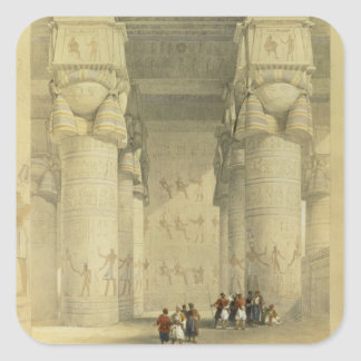 View from under the Portico of the Temple at Denda Square Sticker