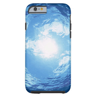 View from under water tough iPhone 6 case