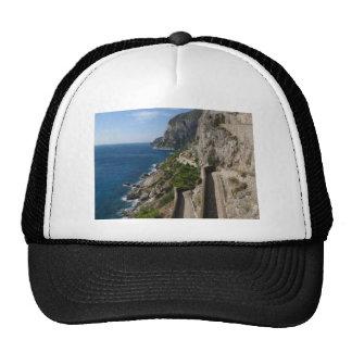 View from Via Krupp on island Capri Mesh Hat