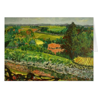 VIEW FROM VILLE NEUVE STATIONERY NOTE CARD