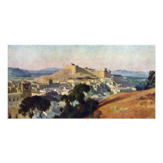 View From Villeneuve-Les-Avignon The Fort Saint-An Customized Photo Card