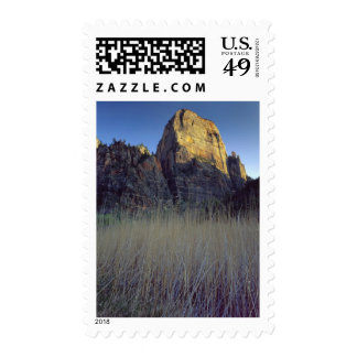 View from Virgin River flood plain Zion Canyon Stamps