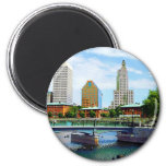 View from Waterplace Park, Providence, RI Fridge Magnets