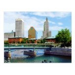 View from Waterplace Park, Providence, RI Postcard