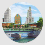 View from Waterplace Park, Providence, RI Sticker