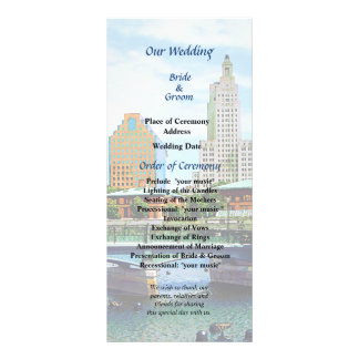 View From Waterplace Park Wedding Program
