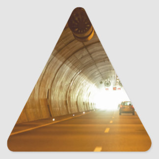 View in a highway tunnel triangle sticker