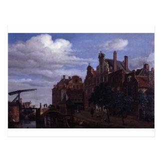 View in Amsterdam by Adriaen van de Velde Postcard