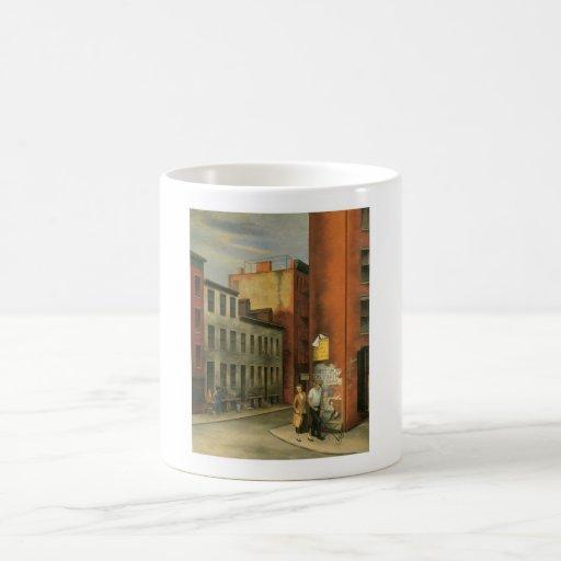 View in Chambers Street, New York City c. 1936 Mugs