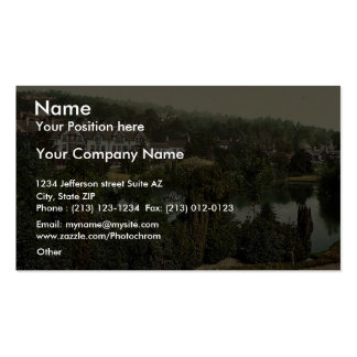 View in gardens Grange-over-Sands England rare P Business Cards