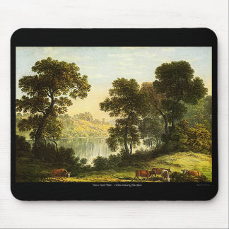 View In North Wales, Watercolor Painting Mousepad! Mouse Pad