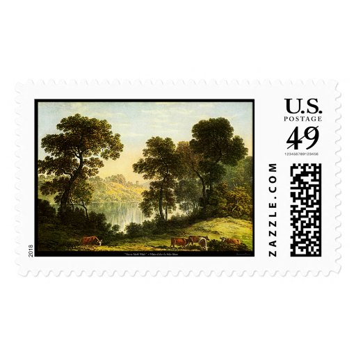 View In North Wales Watercolor Painting USPS Stamp