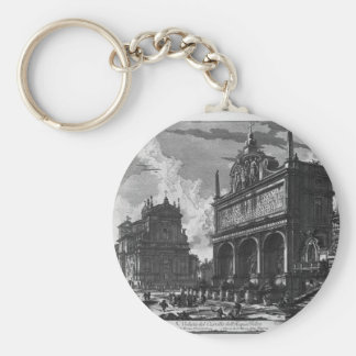 View in perspective of the great Fountain Basic Round Button Keychain