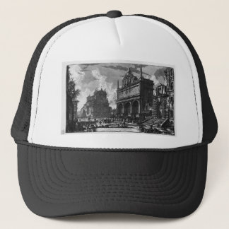 View in perspective of the great Fountain Trucker Hat